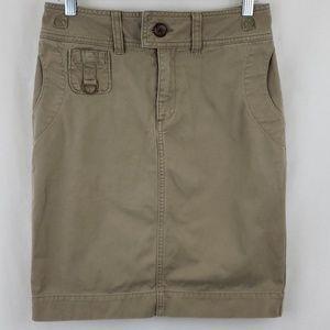 Ralph Lauren Sport Khaki Pencil Skirt sz 4